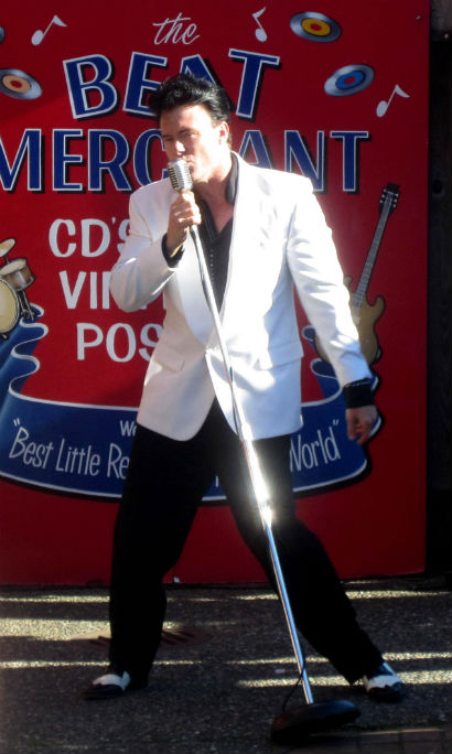 Elvis Performance at Beatmerchant Record Store